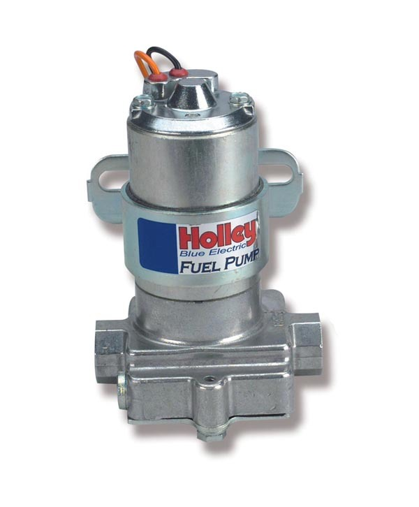 Holley 12-812-1 Fuel Pump, Electric, In-Line, 88 gph at 9 psi, 3/8 in NPT Female Inlet, 3/8 in NPT Female Outlet, Bracket Included, Aluminum, Silver, Gas, Each