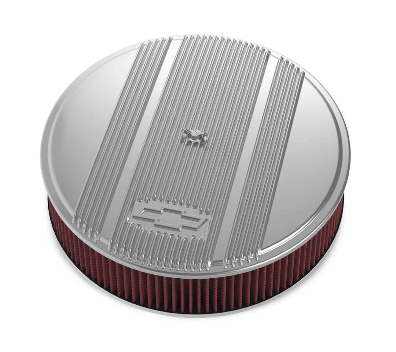 Holley 14 x 3 Air Cleaner Finned Bowtie Polished