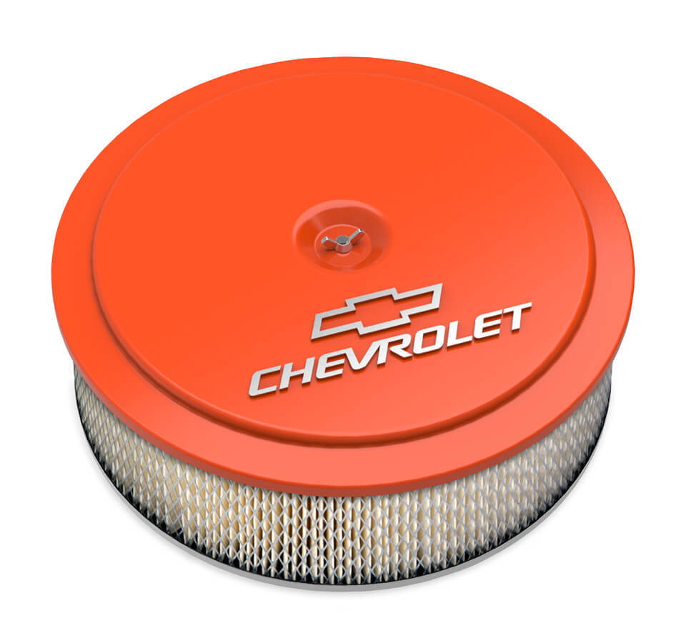 Holley 14 x 4 Air Cleaner  GM Muscle Series Orange