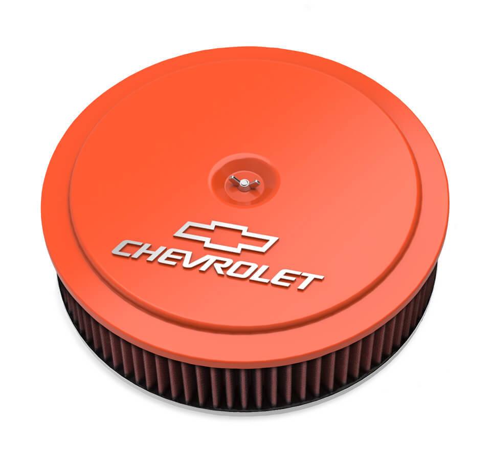Holley 14 x 3 Air Cleaner  GM Muscle Series Orange