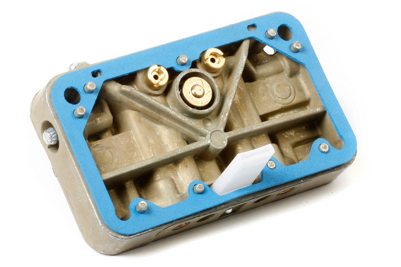 Holley 134-280 Metering Block, Gaskets Included, Aluminum, Chromate, Primary, Holley HP 2-Barrel Carburetors, Kit