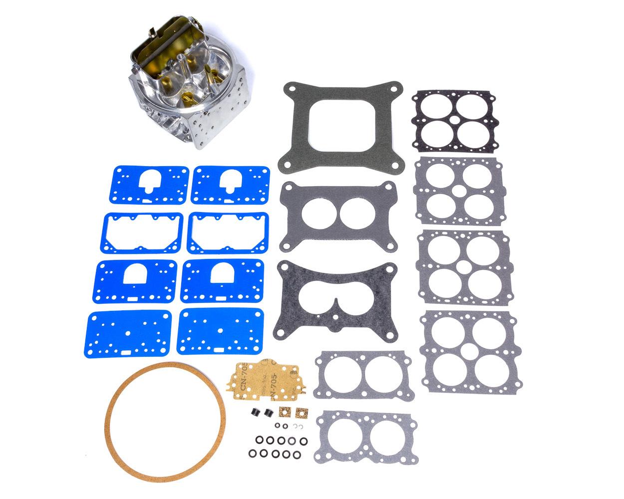 Holley 134-331 Carburetor Main Body, Replacement, 600 CFM, Aluminum, Silver, Holley Classic 4160 Carburetor, Kit
