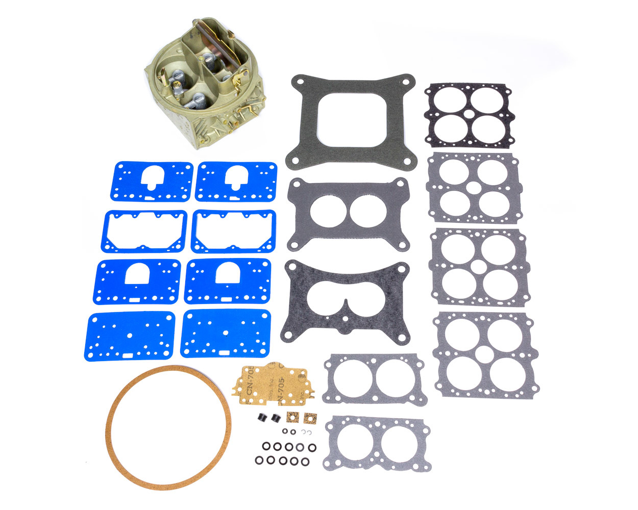 Holley 134-336 Carburetor Main Body, Replacement, 650 CFM, Zinc, Chromate, Holley Double Pumper Carburetor, Kit
