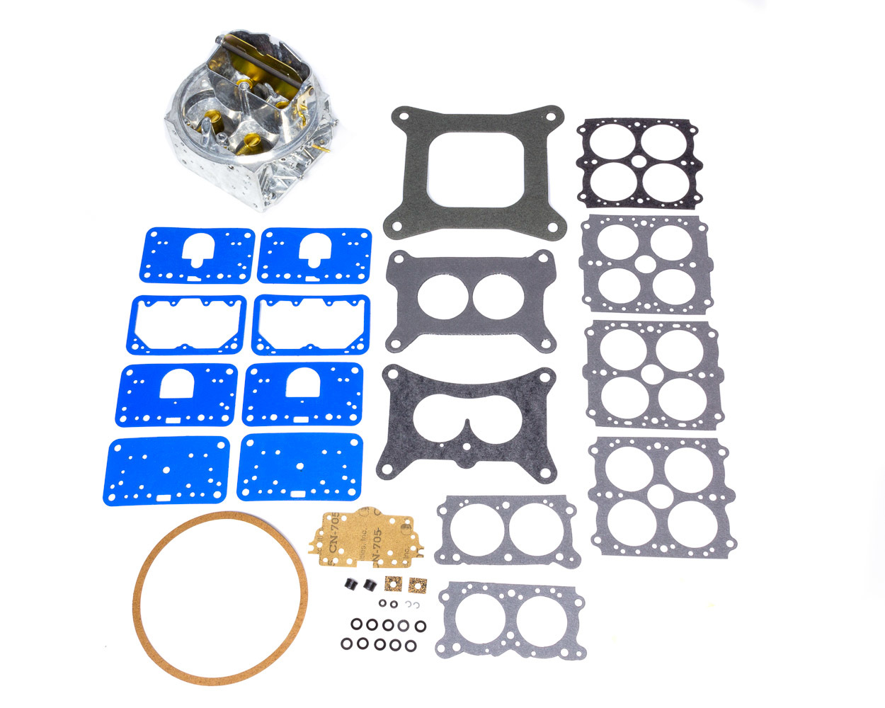 Holley 134-348 Carburetor Main Body, Replacement, 670 CFM, Zinc, Chromate, Holley Street Avenger Model 4150 Carburetor, Kit