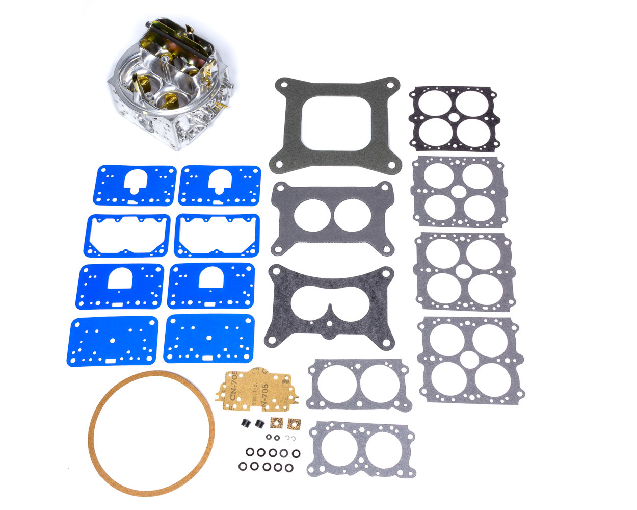 Holley 134-353 Carburetor Main Body, Replacement, 770 CFM, Aluminum, Silver, Holley Street Avenger Model 4150 Carburetor, Kit
