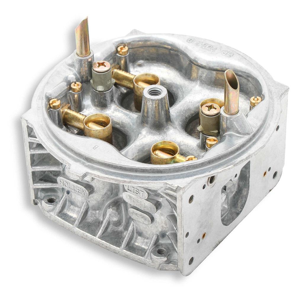 Holley 134-356 Carburetor Main Body, Replacement, 650 CFM, Zinc, Chromate, Holley Street HP Model 4150 Carburetor, Kit