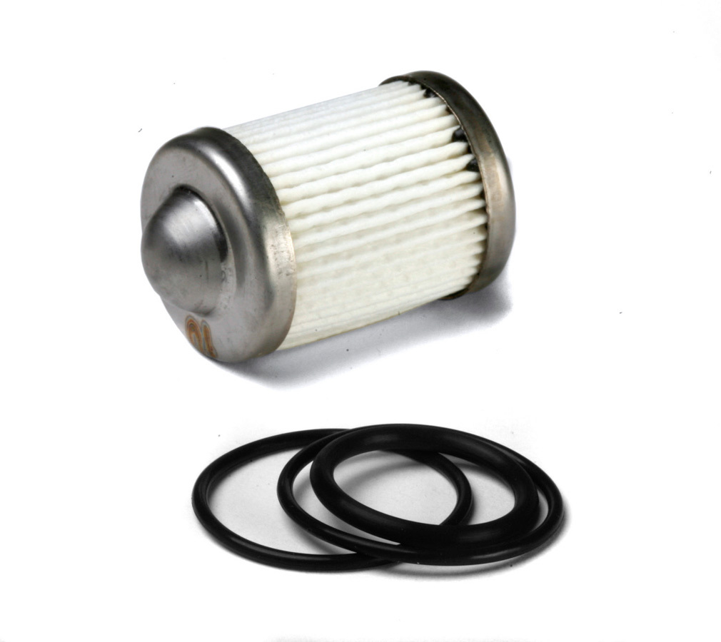 Holley 162-556 Fuel Filter Element, 10 Micron, Paper Element, O-Ring, Holley Billet Fuel Filters, Each