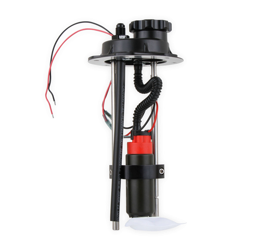 Holley 19-370 Fuel Pump, Sniper EFI, Electric, In-Tank, 340 lph, 6AN inlet Port, 6AN Outlet Port, Black, Each