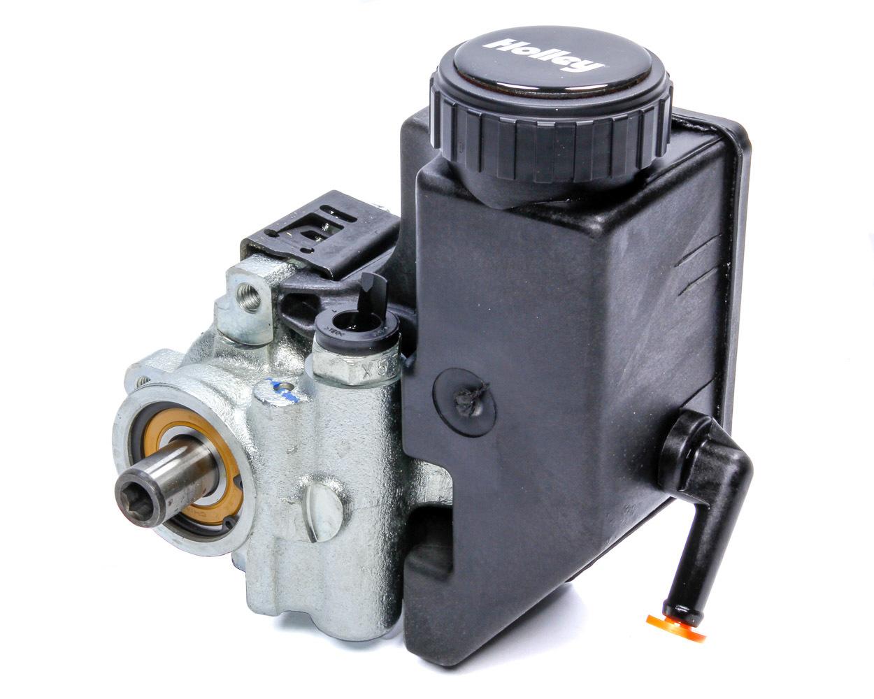Holley 198-101 Power Steering Pump, GM Type 2, Standard Volume, Integral Reservoir, Iron, Natural, GM LS-Series, Each