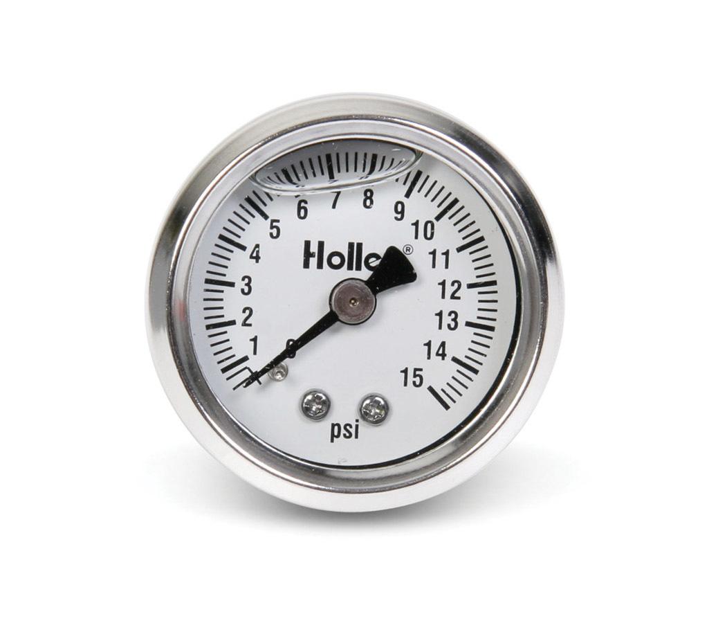 Holley 0-15 Psi Fuel Press Gaug