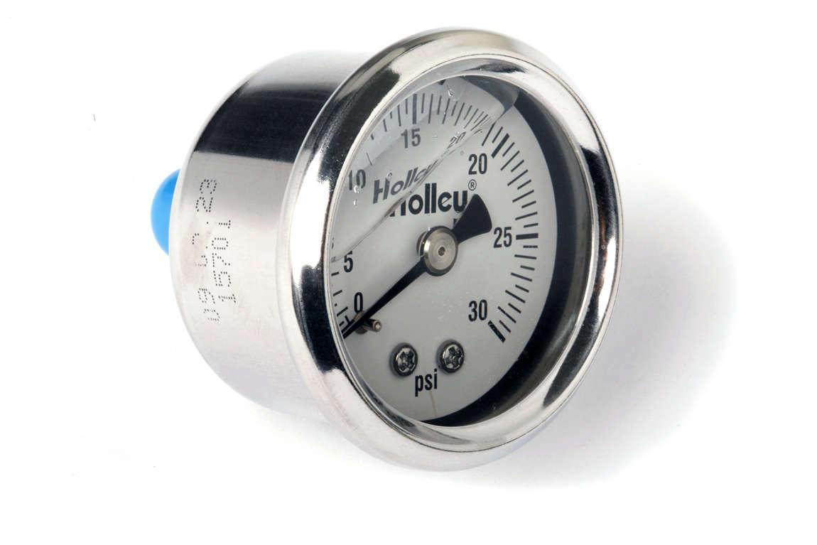 Holley 0-30 Psi Fuel Press Gaug
