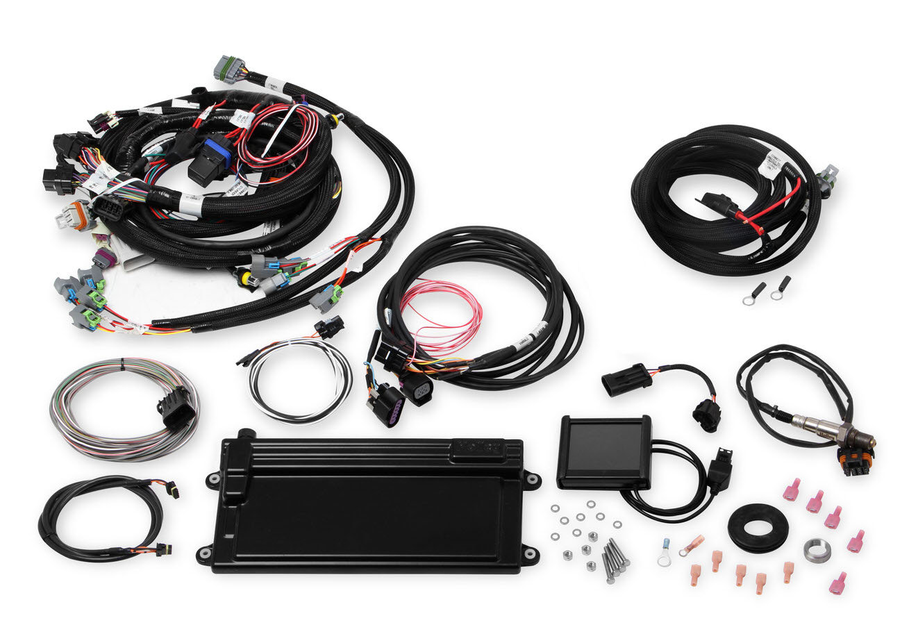 Holley 550-611 Fuel Injection, Terminator GM LS, Multi Port, Power Module / Programmer / O2 Sensor / Fittings / Bungs, Drive by Wire, LS2 / LS3, GM LS-Series, Kit