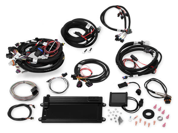 Holley 550-623 Fuel Injection, Terminator GM LS, Multi Port, Power Module / Programmer / O2 Sensor / Fittings / Bungs, Trans Control / DBW, LS2 / LS3, GM LS-Series, Kit