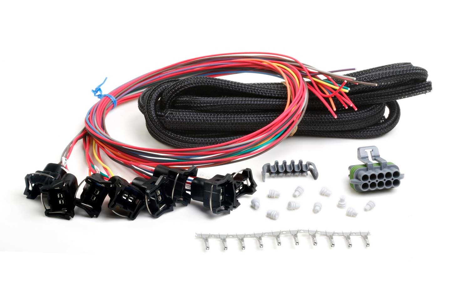 Holley 558-204 Fuel Injector Harness, Unterminated, Bosch Terminal Ends Included, Holley Hp / Dominator EFI, Kit