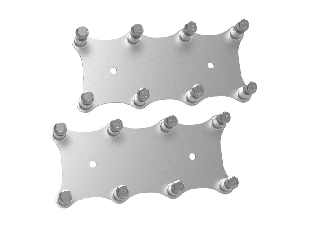 Holley 561-122 Ignition Coil Bracket, Coil Pack Style, Coil Mount Hardware Included, Aluminum, Natural, GM LS-Series, Pair