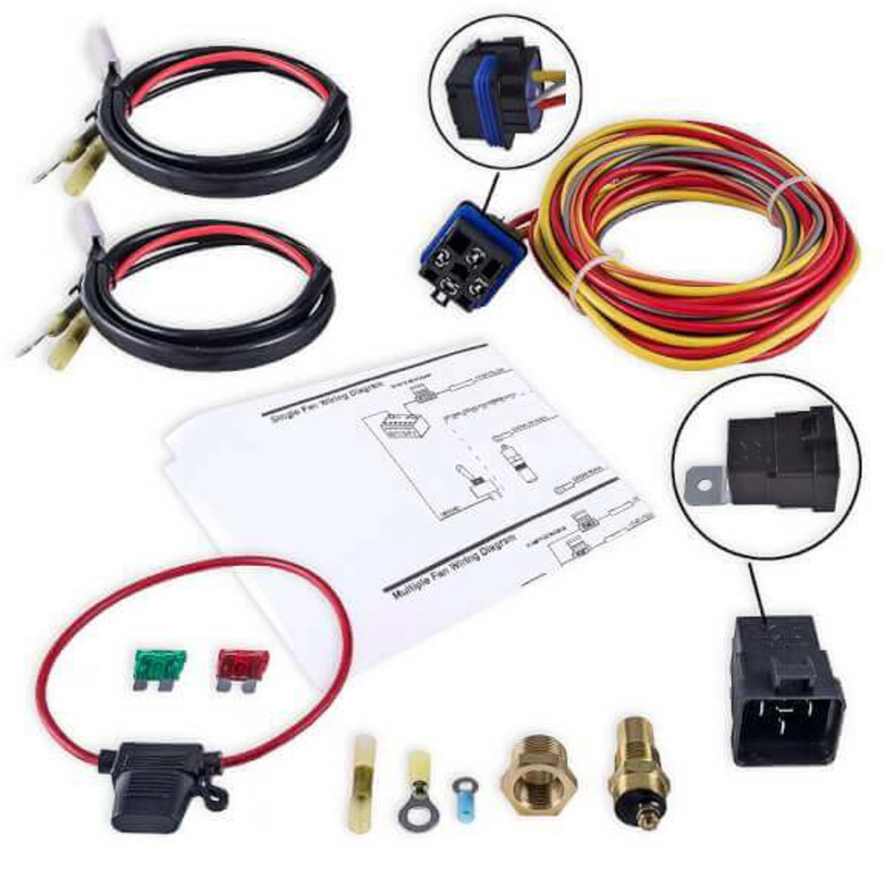 Holley FB403 Electric Relay Kit, For Frostbite Fan/Shroud Sys