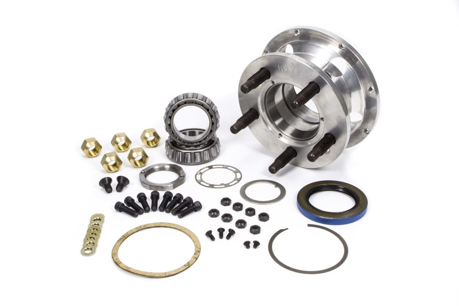 Howe 205100 Wheel Hub, Front, Small Five, 5 x 5.00 in Wheel, 5/8-11 in Stud, 8 x 7 in Rotor, Aluminum, Natural, Kit