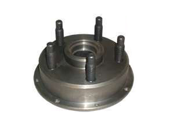 Howe 205345 Wheel Hub, Front, Stock Replacement, 5 x 5.00 in Wheel, 5/8-11 in Stud, 8 x 7 in Rotor, Steel, Natural, Each
