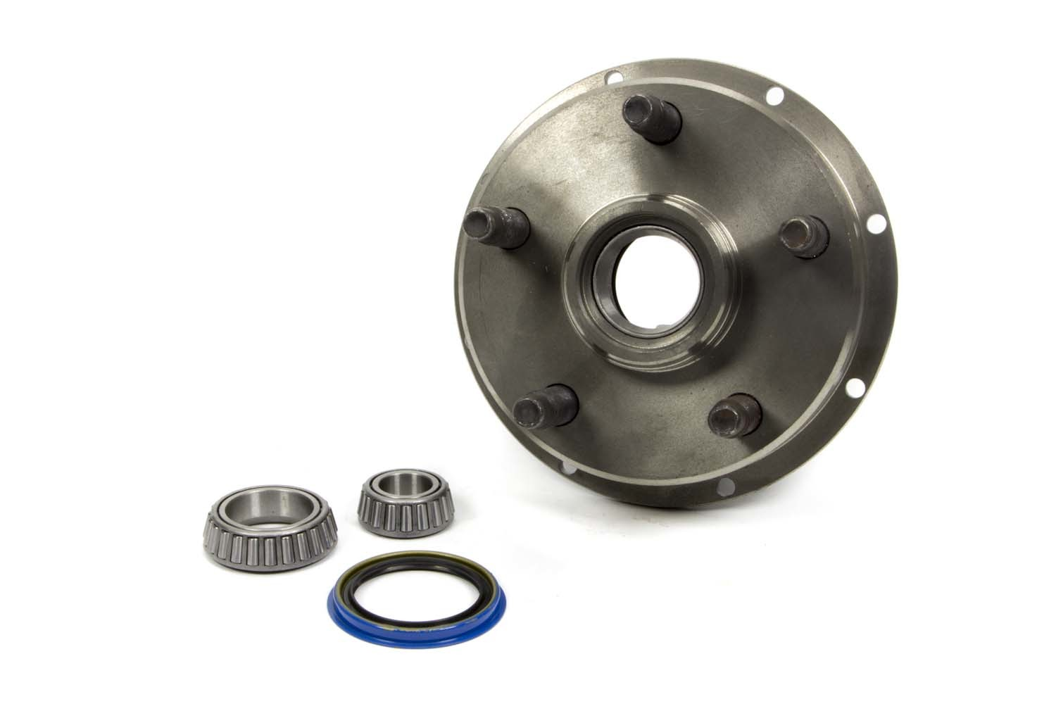 Howe 205350 Wheel Hub, Front, Stock Replacement, 5 x 5.00 in Wheel, 5/8-11 in Stud, 8 x 7 in Rotor, Steel, Natural, Kit