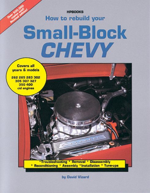 HP Books HP1029 Book, How to Rebuild your Small-Block Chevy, 168 Pages, Paperback, Each