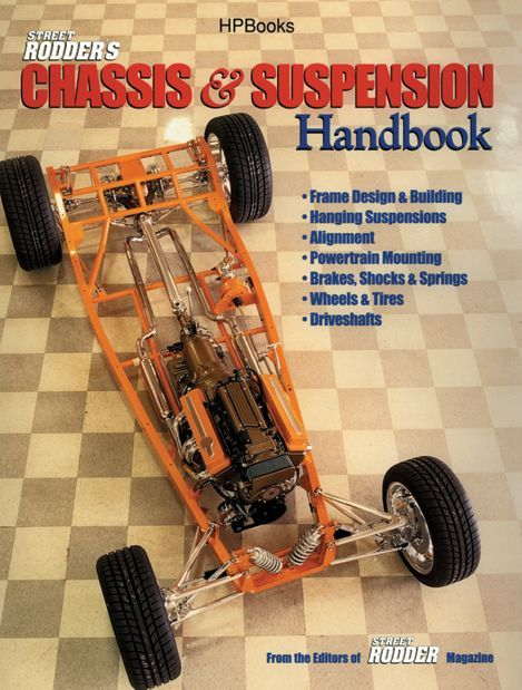 HP Books HP1346 Book, Street Rodder Chassis and Suspension Handbook, 176 Pages, Paperback, Each