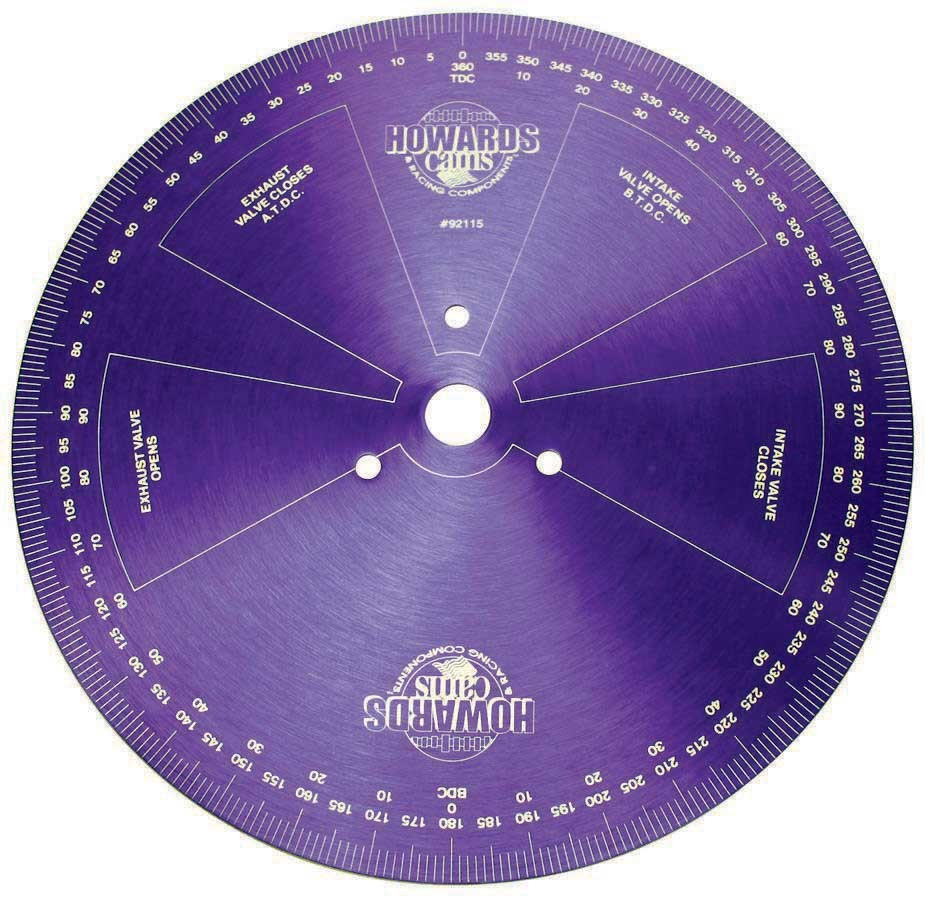 Howards Racing Components 92115 Degree Wheel, 14 in Diameter, Aluminum, Purple Anodized, Each