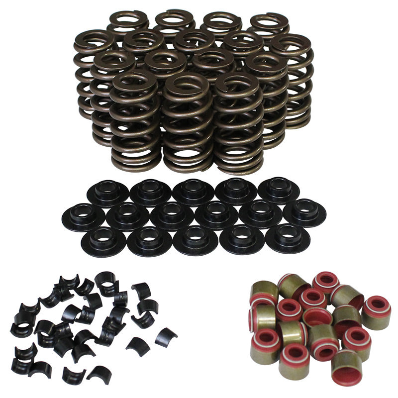 Howards Racing Components 98112-K1 Valve Spring Kit, Ovate Beehive, 340 lb/in Rate, 1.100 in Coil Bind, 1.207 in OD, Steel Cups / Locks / Retainers, Kit