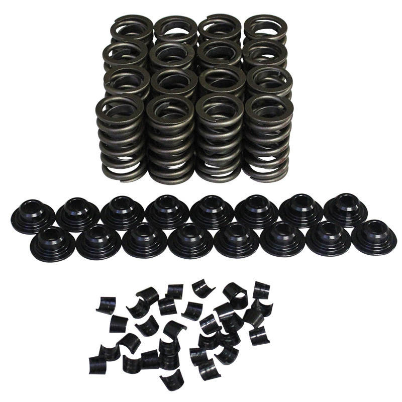 Howards Racing Components 98214-K11 Valve Spring Kit, Single Spring / Damper, 300 lb/in Rate, 1.160 in Coil Bind, 1.250 in OD, Steel Cups / Locks / Retainers, Kit