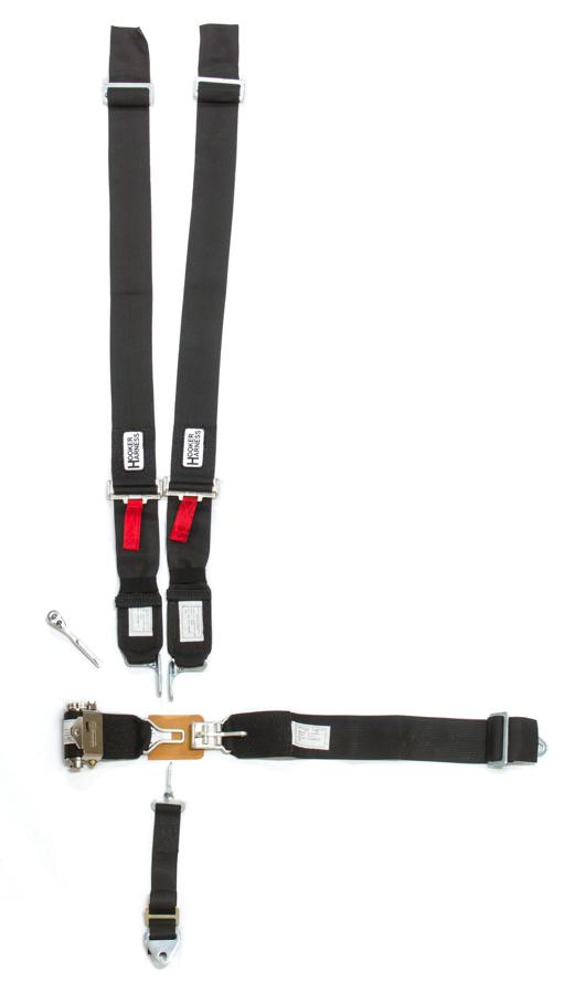 5-Pt Harness System LL USD Ratchet Adj Black