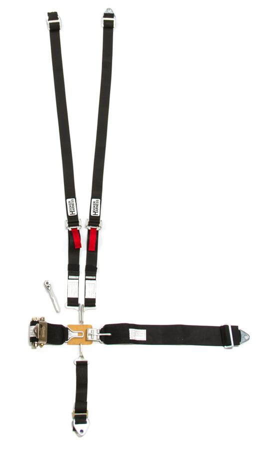 5-Pt Harness System Hans LL USD Ratchet Adj Black