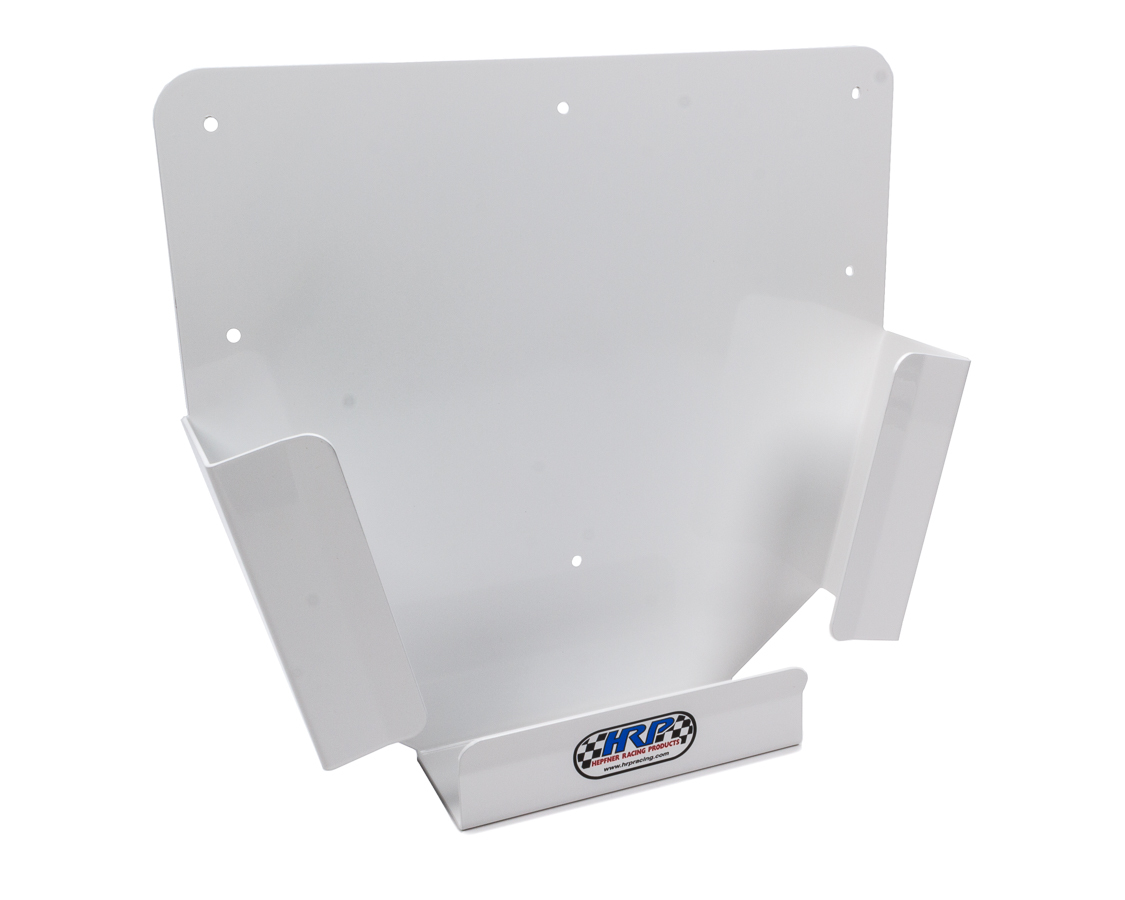Hepfner Racing Products HRP6198-A-WHT Mud Cover Holder, Wall Mount, 4 Sprint Car Mud Cover Capacity, Aluminum, White Power Coat, Each