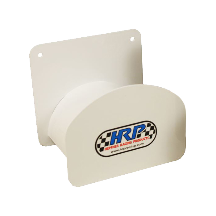 Hepfner Racing Products HRP6275-WHT Cord Holder, Wall Mount, 6-1/2 x 4 in, Aluminum, White Powder Coat, Each