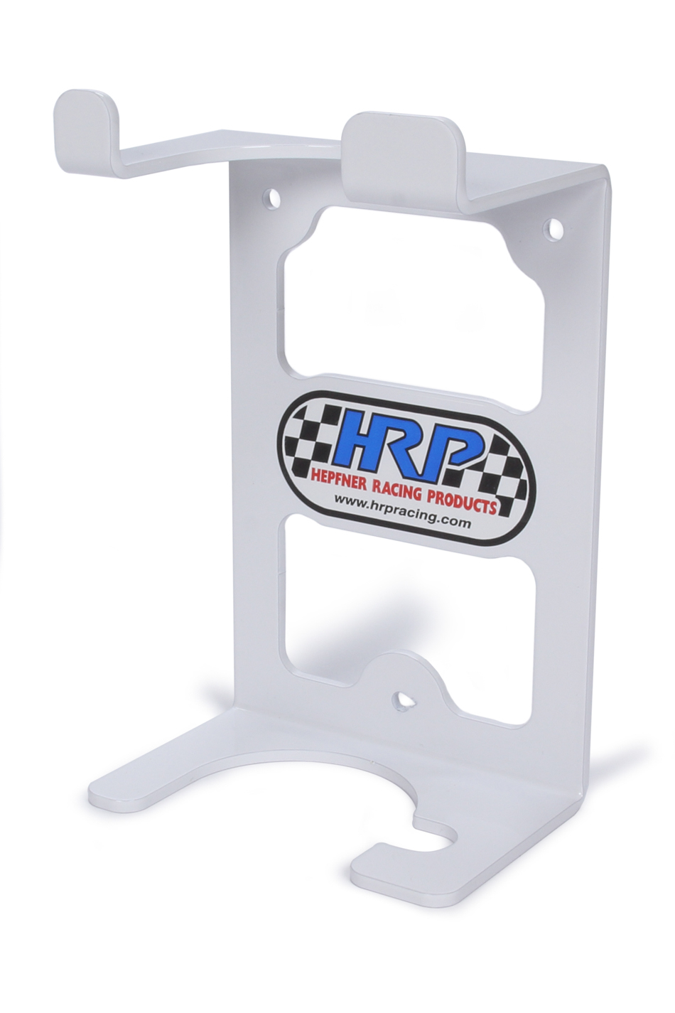 Hepfner Racing Products HRP6298-WHT Grease Gun Rack, Wall Mount, Aluminum, White Powder Coat, Each