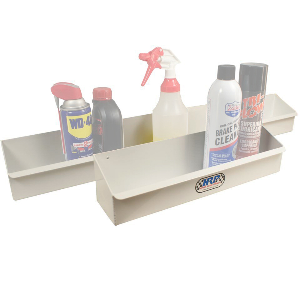 Hepfner Racing Products HRP6302-WHT Aerosol Can Holder, 16 in Long, 2-3/4 in Deep, Aluminum, White Powder Coat, Each