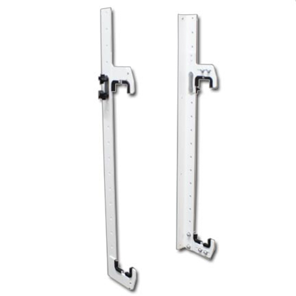 Hepfner Racing Products HRP6340A-WHT Radiator Hanger, Wall Mount, Adjustable, 24 in Tall, 2-1/4 in Wide Radiators, Aluminum, White Powder Coat, Kit
