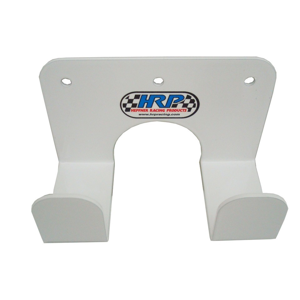 Hepfner Racing Products HRP6393-WHT Push Broom Holder, Small, Wall Mount, Aluminum, White Powder Coat, Each