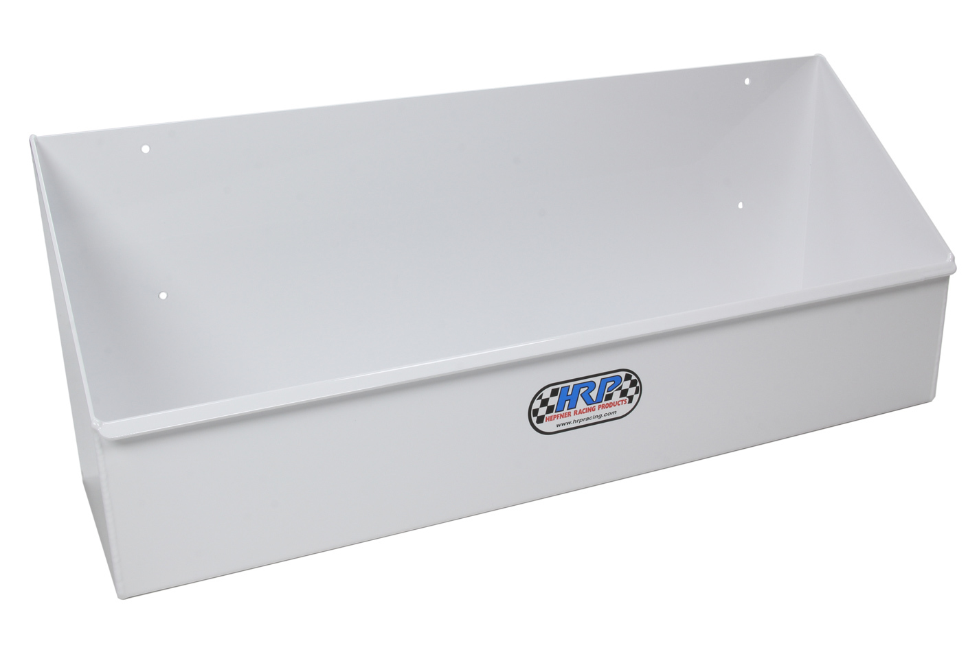 Hepfner Racing Products HRP6518-WHT Gear Case Rack, Horizontal, 21 in Long, 8-1/4 in Tall, 6 in Deep, 10 Case Capacity, Aluminum, White Powder Coat, Each