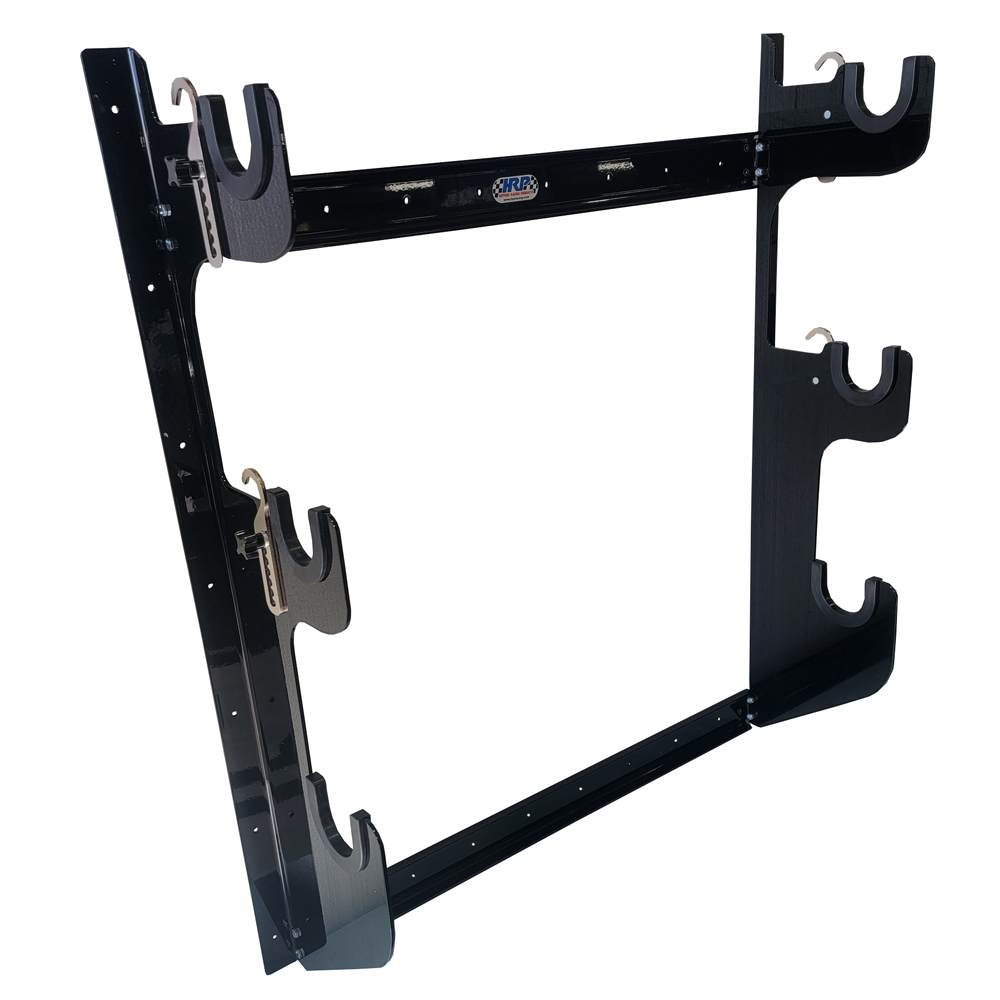 Hepfner Racing Products HRP6776-BLK Axle Rack Wall Mount 1 Rear and 2 Fronts Blk