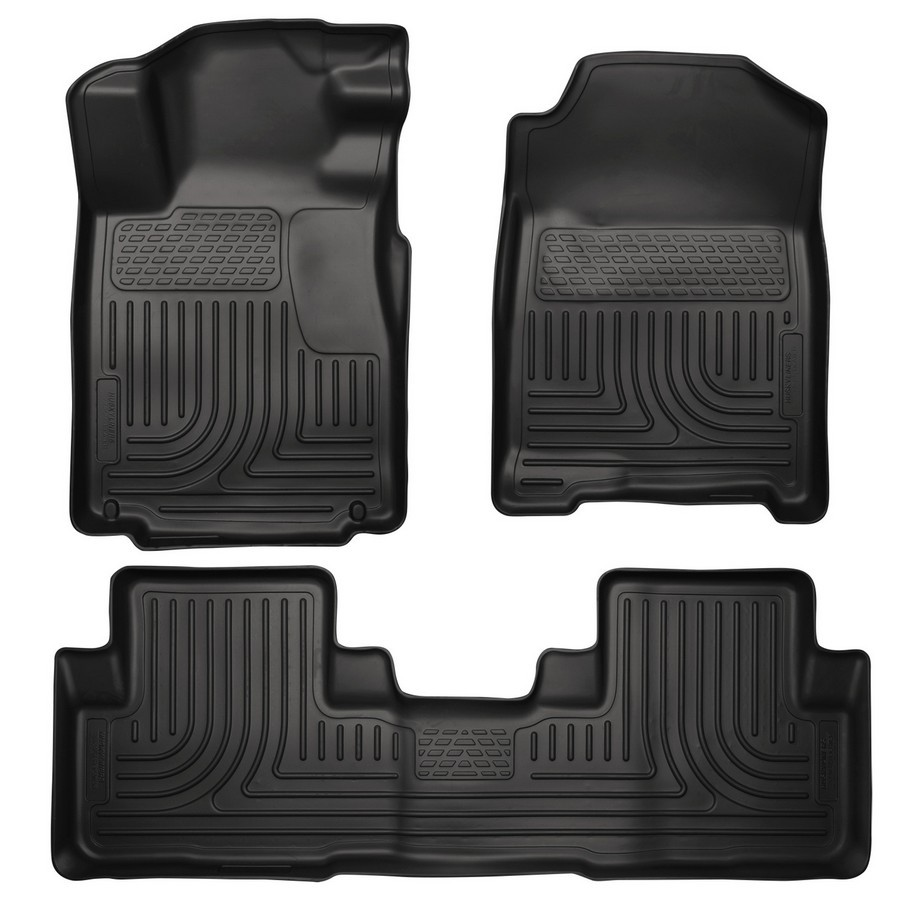 10-14 Mustang Front/2nd Seat Floor Liners Black