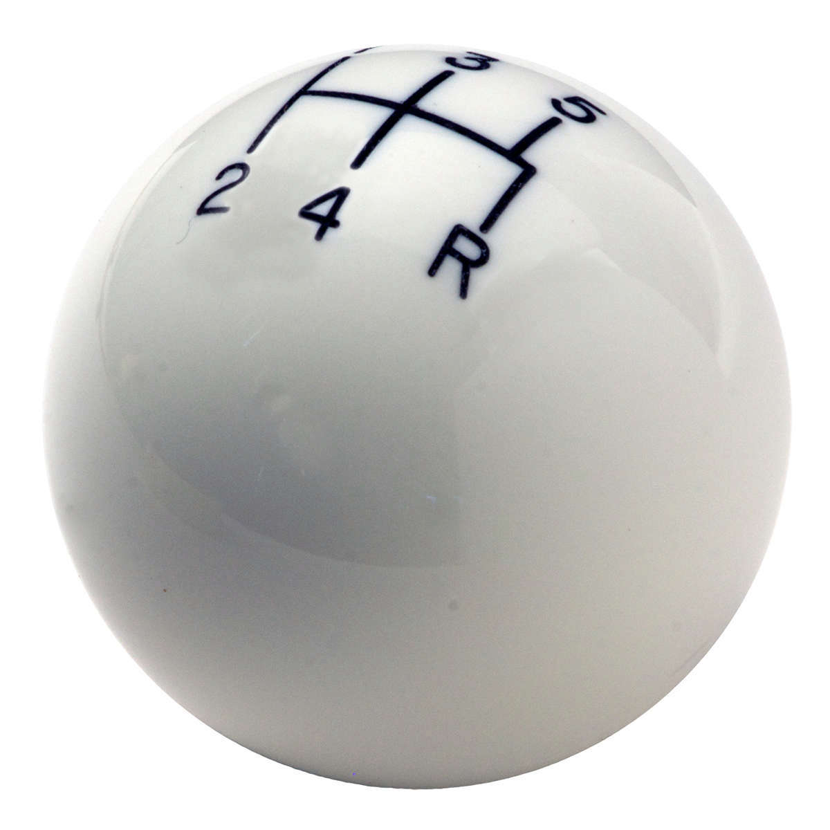 Hurst 163-0008 Shifter Knob, Classic, 3/8-16 in Thread, Composite, White, 5 Speed, Universal, Each