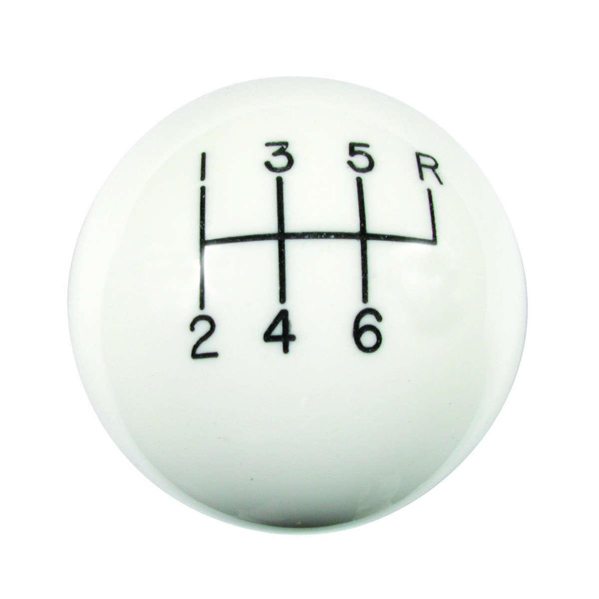 Classic 6-Speed Shift Knob White (3/8-16)