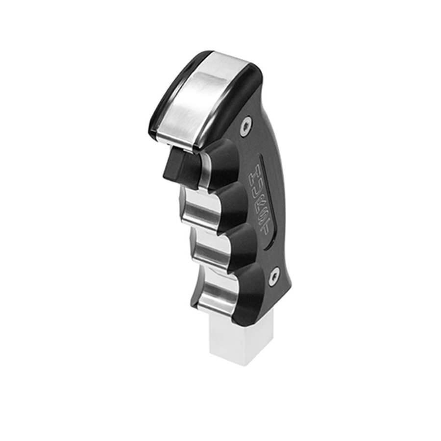 Hurst 538-0437 Shifter Knob, Pistol Grip, Hurst Logo, Aluminum, Black Anodize, Dodge Challenger 2015-16, Each