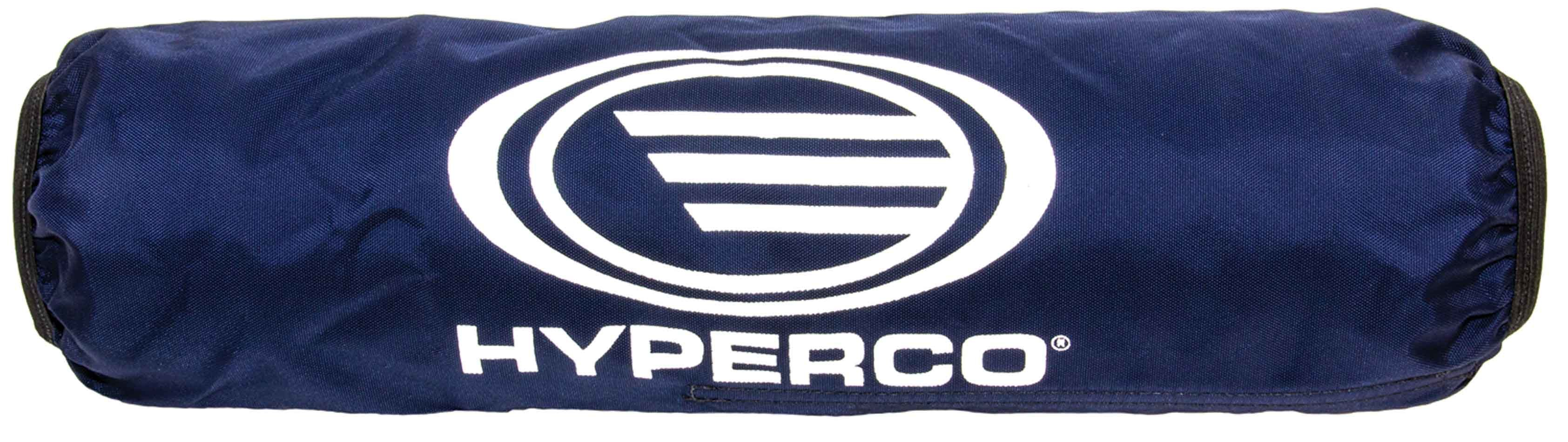 Hyperco 1101-16B Coil-Over Cover, Coil-Spring Bags, Heat / UV / Water Resistant, Washable, Elastic Ends, Hook and Loop Closure, Hyperco Logo, Polyester, Navy Blue, Hyperco 16 in FL / B Series Springs, Each
