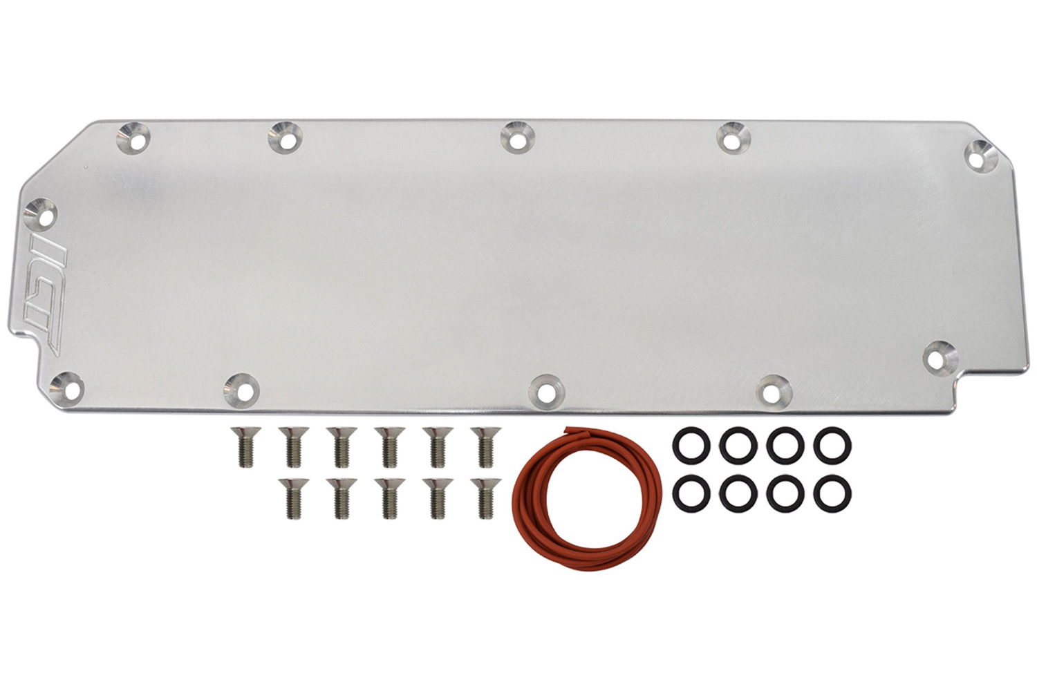 ICT Billet 551168 Valley Cover, O-Rings / Hardware, 3/8 in Thick, Aluminum, Natural, GM GenV LT-Series, Each