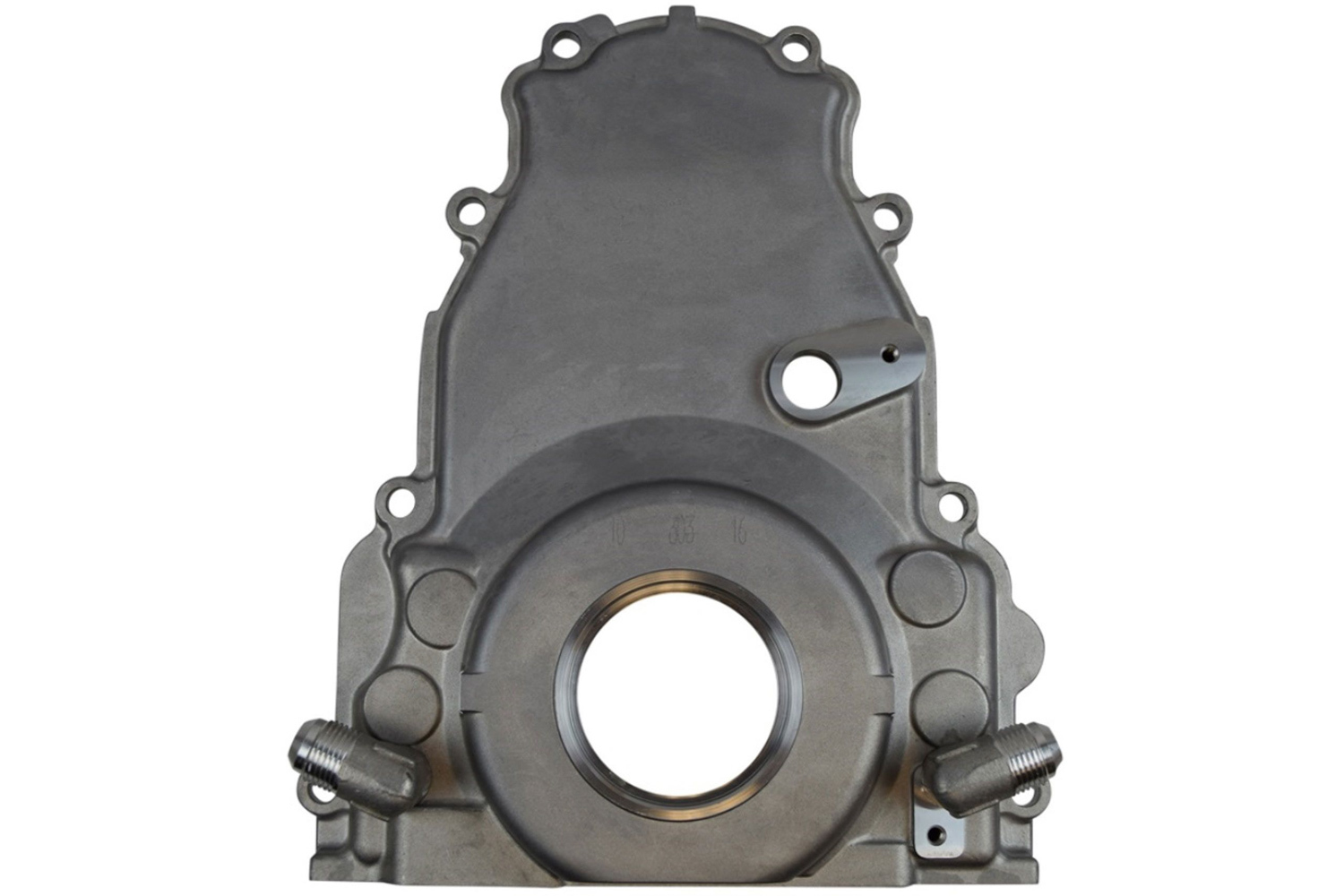 ICT Billet 551595 Timing Cover, 1 Piece, Seal Included, 10 An Returns, Aluminum, Natural, GM LS-Series, Each