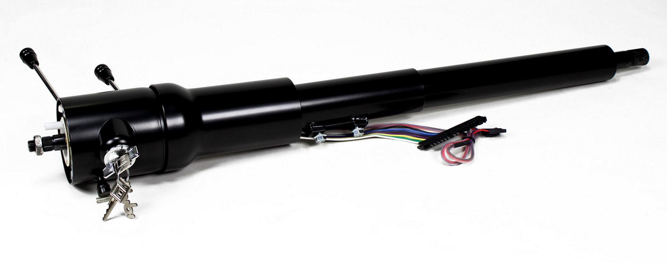 Ididit 1620860051 Steering Column, Retrofit, Tilt, Hazard / Key / Turn Signal, Steel, Black Powder Coat, GM F-Body 1970-75, Each