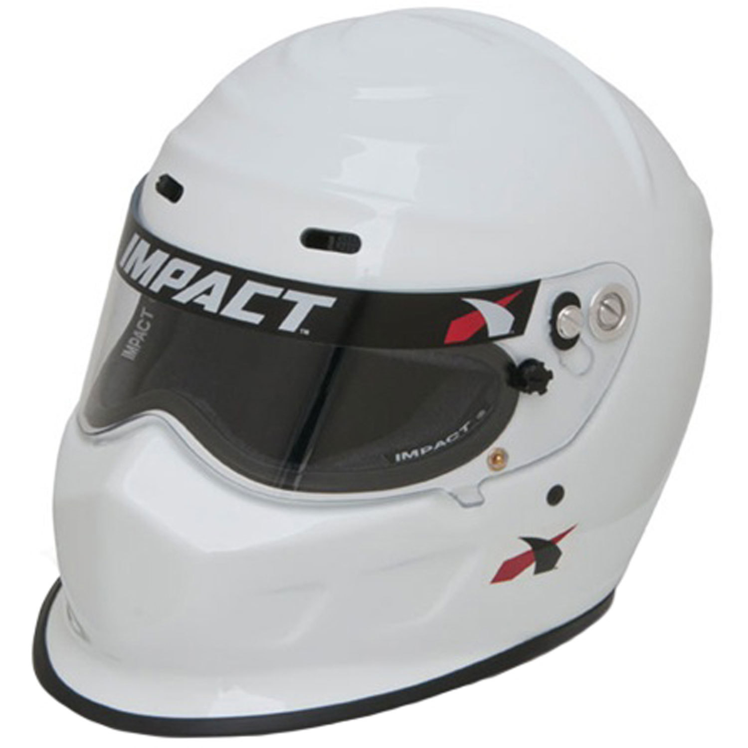 Impact Racing 13015309 Helmet, Champ, Snell SA2015, Head and Neck Support Ready, White, Small, Each