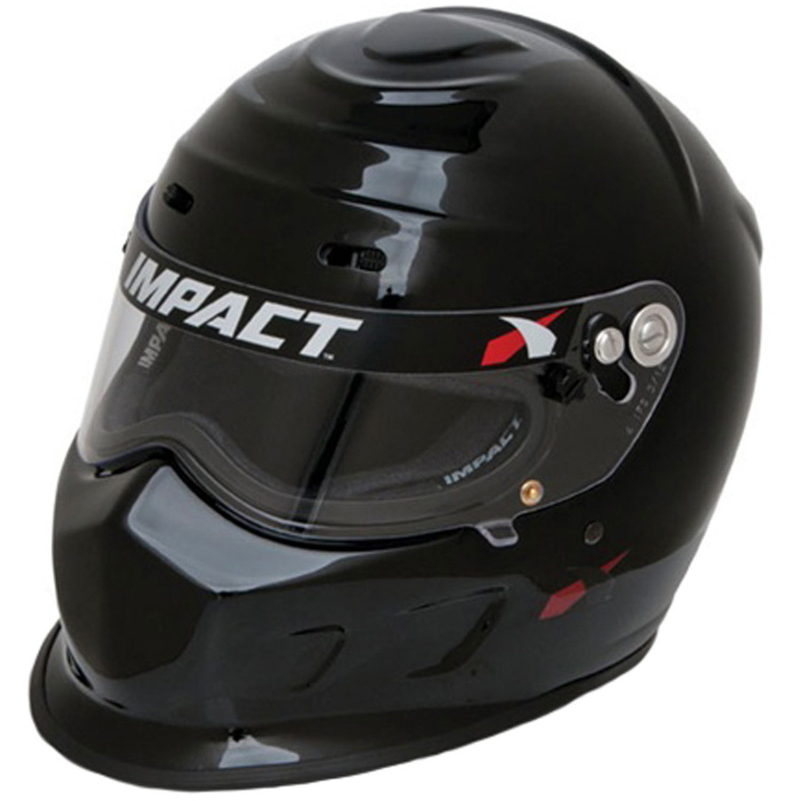 Impact Racing 13015310 Helmet, Champ, Snell SA2015, Head and Neck Support Ready, Black, Small, Each