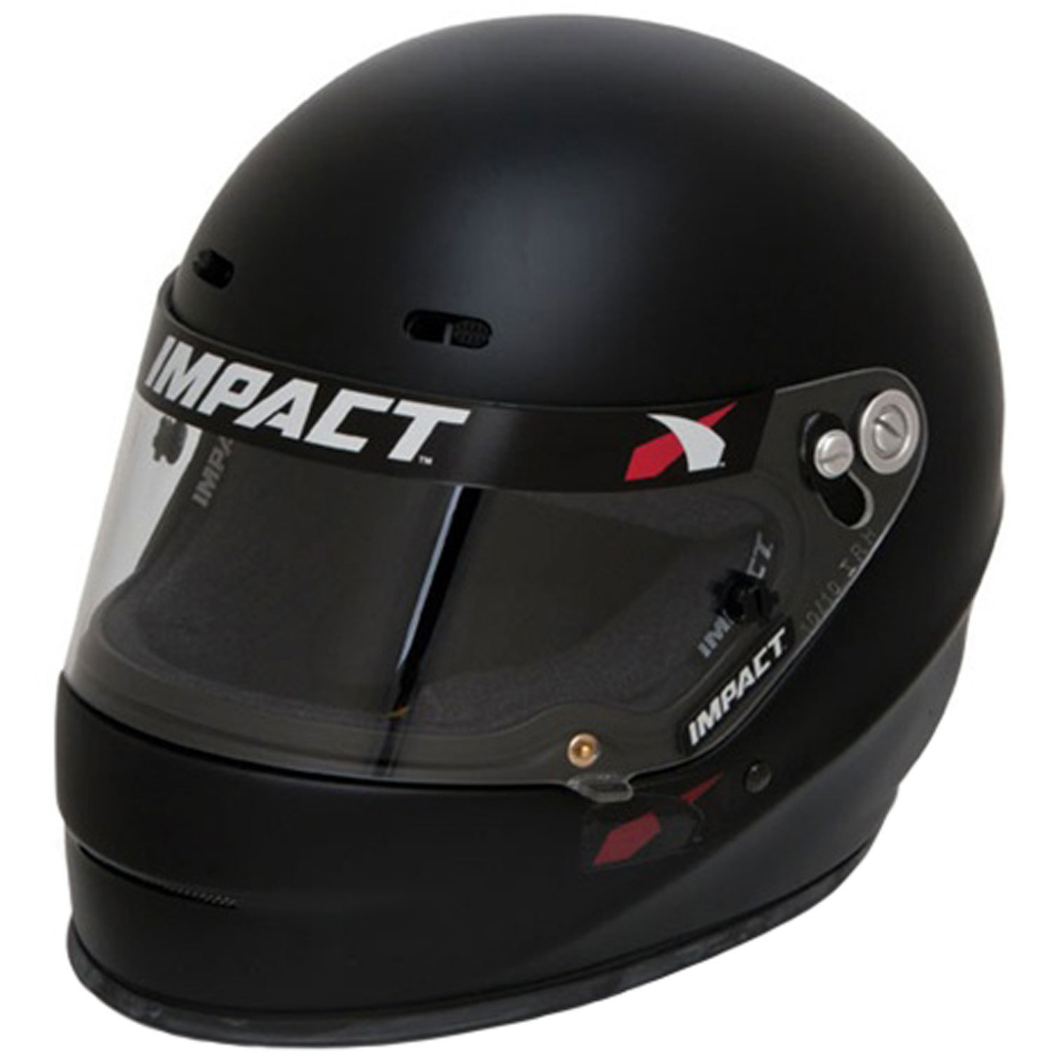 Impact Racing 14520412 Helmet, 1320, Full Face, Snell SA2020, Head and Neck Support Ready, Flat Black, Medium, Each