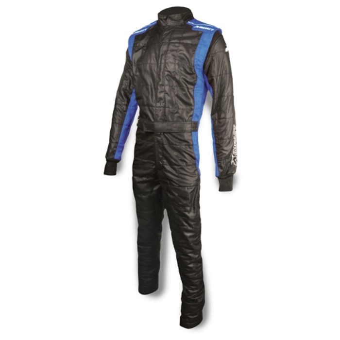 Impact Racing 24219406 Suit, Racer2020, Driving, 1 Piece, SFI 3.2A/5, Double Layer, Nomex, Black / Blue, Medium, Each